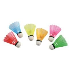 Victor® Badmintonshuttles met kleurige korf