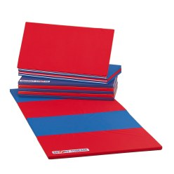 Sport-Thieme Vouwmat 360x120x3 cm, Blauw-rrod