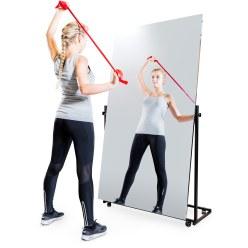 Miroir de correction léger roulant 200x150/74/74 cm (HxL), 3 pièces