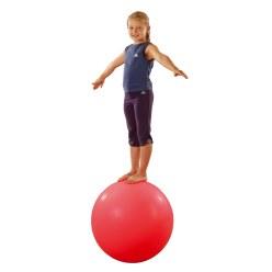 Evenwichtsbal  Rood met zilver klatergoud, ø ca. 60 cm, 12 kg