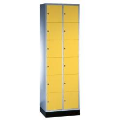 """Sluitvakkast """"S 4000 Intro"""" (6 vakken boven elkaar) Geel-oranje (RAL 2000), 195x92x49 cm/ 18 vakken"""