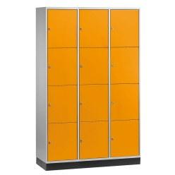 Armoire à casiers « S 4000 Intro » (4 casiers superposés) Gris clair (RAL 7035), 195x82x49 cm/ 8 compartiments