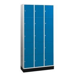 """Sluitvakkast """"S 4000 Intro"""" (5 vakken boven elkaar) Gentiaanblauw (RAL 5010), 195x62x49cm/ 10 vakken"""