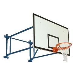 Sport-Thieme® basketbalmuurconstructie, vaste uitvoering