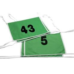 Dubbel-Startnummer met biesbandje 1- of 2-cijferig getal, wit