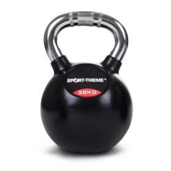 Sport-Thieme® kettlebell met rubber bekleed en met chroomhandgreep