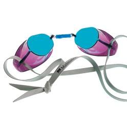 Originele Zweedse Malmsten zwembril, verspiegeld Blauw verspiegeld