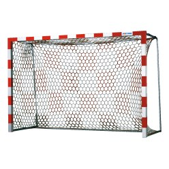 Filet pour but de handball avec motif échiquier