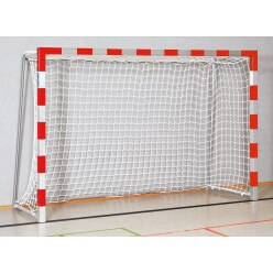 But de handball en salle Sport-Thieme 3x2 m, avec fourreaux Bleu-argent, Angles d'assemblage soudés