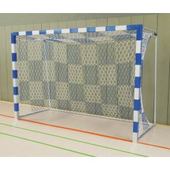 But de hand en salle 3x2 m Sport-Thieme®, autostable Rouge-argent, Angles d'assemblage soudés