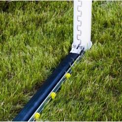 Cadre au sol rabattable avec PlayersProtect pour buts de foot classiques