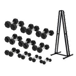 Sport-Thieme Compacte Halter Set - Rubber Hex
