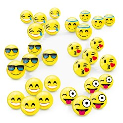 Lot de mini balles Emoticon
