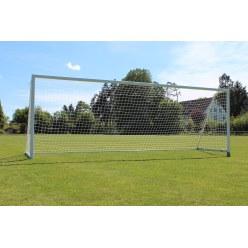 Sport-Thieme But de foot avec cadre et sol et supports de filet rabattables