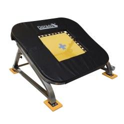 Mini trampoline PE-Redskaber « Dorado » 36 ressorts (toile de saut jaune)