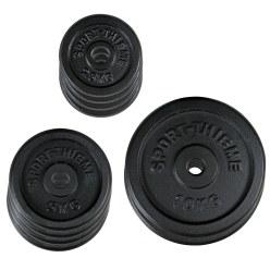 Sport-Thieme Gietijzeren Halterschijvenset, 50 kg