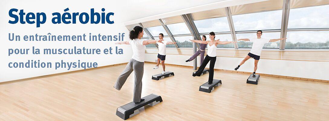 Step aérobic – Un entraînement intensif pour la musculature et la condition physique