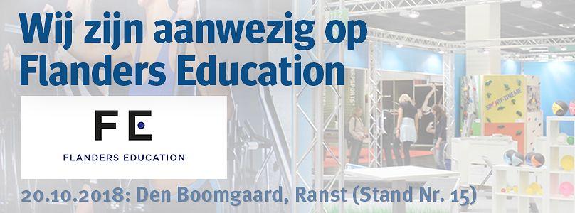 Wij zijn aanwezig op Flanders Education 2018
