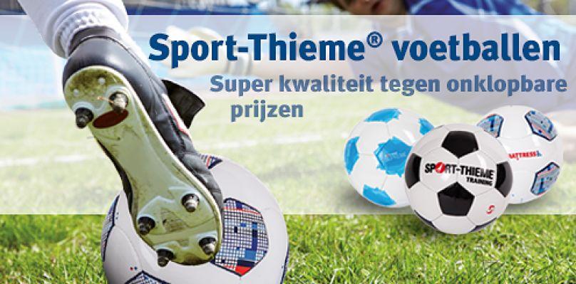 Sport-Thieme® foetballen: Onklopbare prijzen